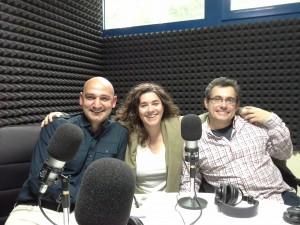 Javier Carril, Josepe García y Elena Mendoza